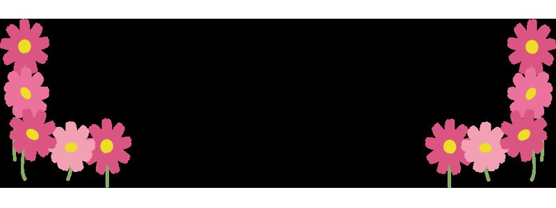 コスモスの飾り枠2