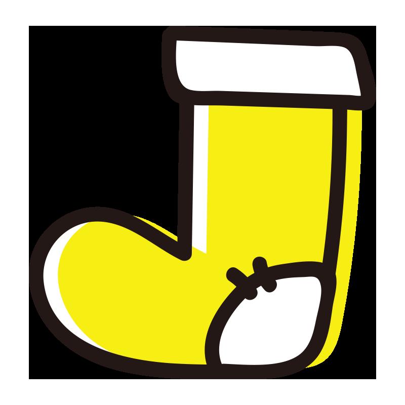 黄色い靴下1