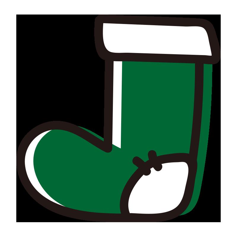 緑の靴下1