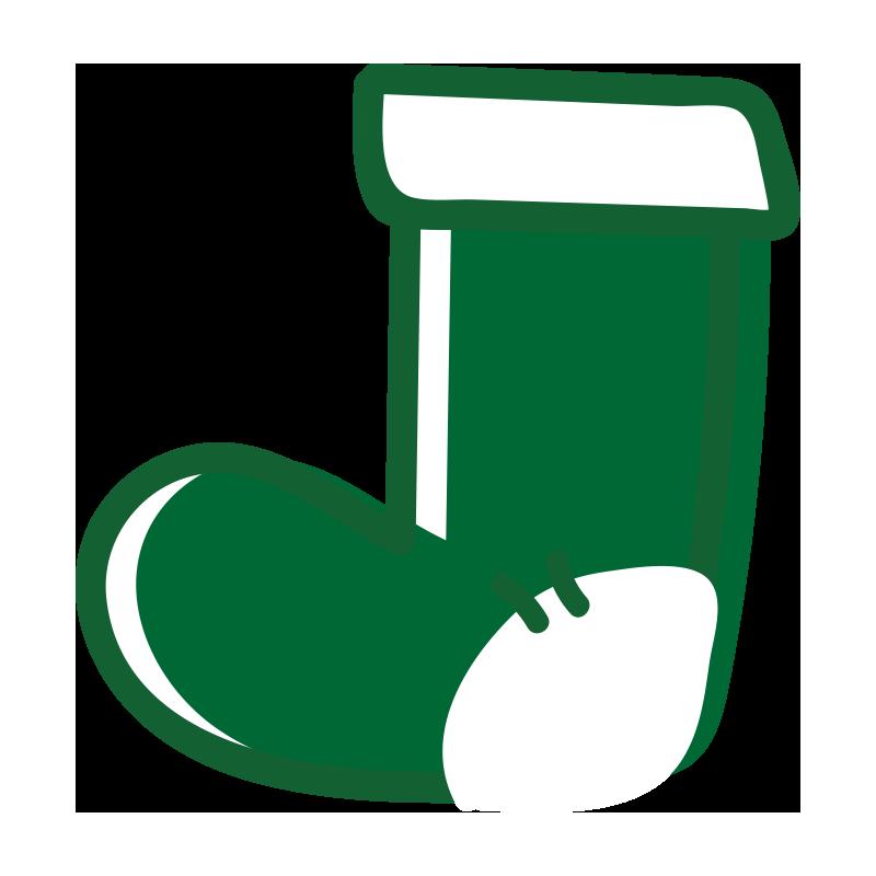 緑の靴下2