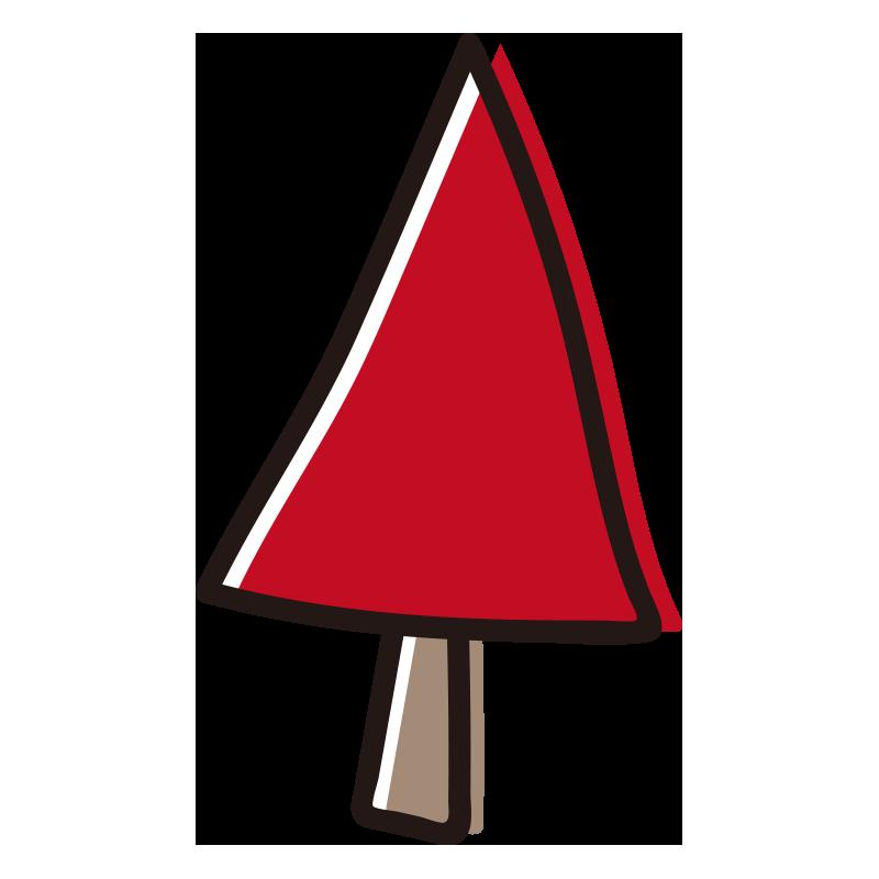 三角の赤い木1