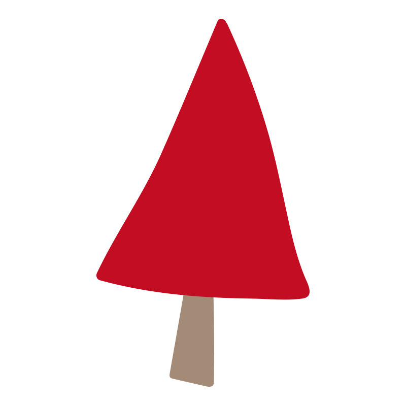 三角の赤い木2