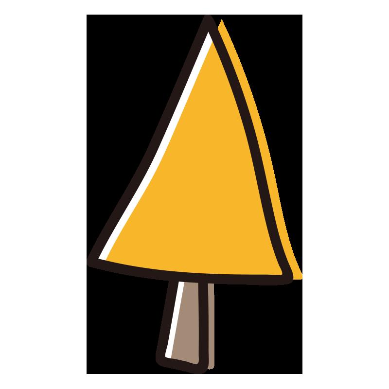 三角の黄色い木1