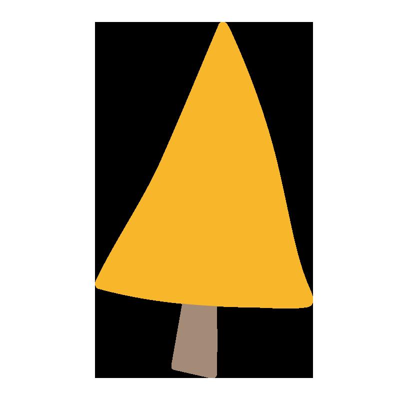 三角の黄色い木2