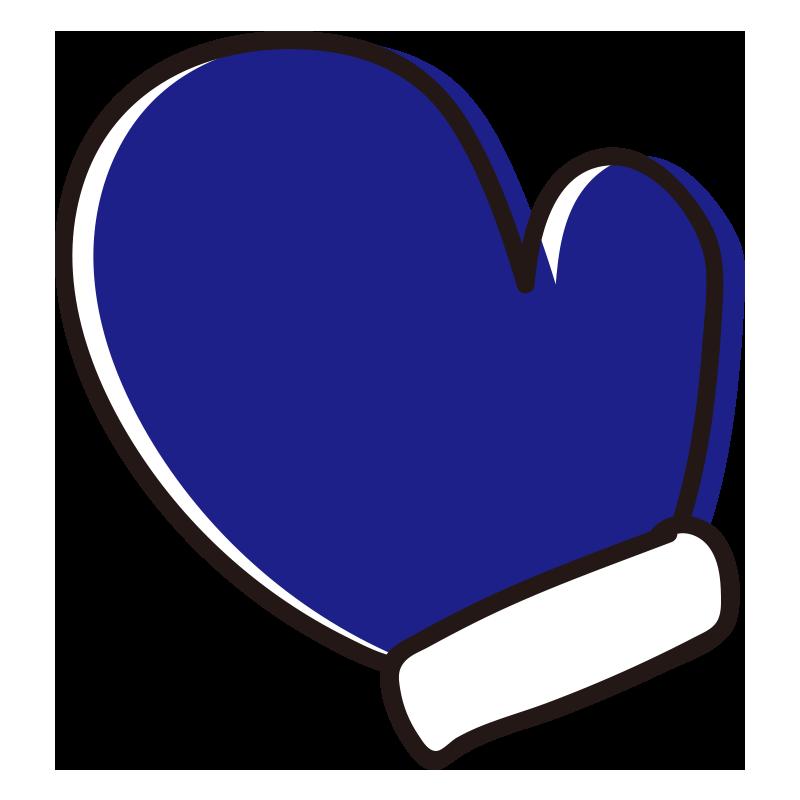 青い手袋1