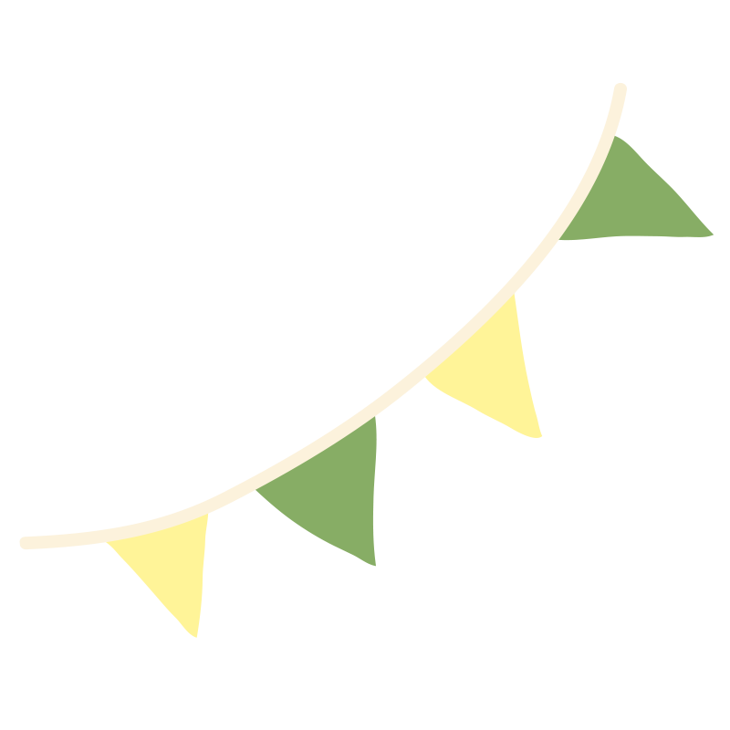 黄色と緑のガーランド