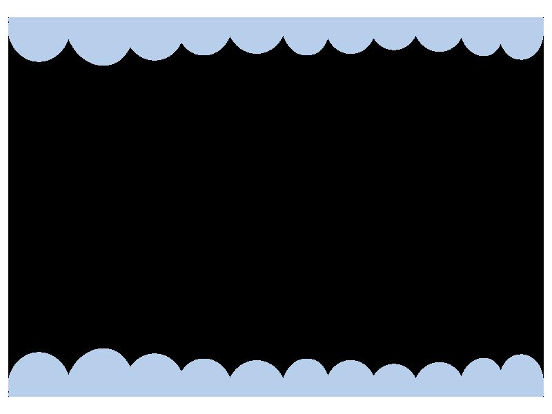 青のふわふわ上下の枠
