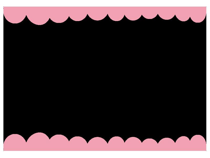 ピンクのふわふわ上下の枠