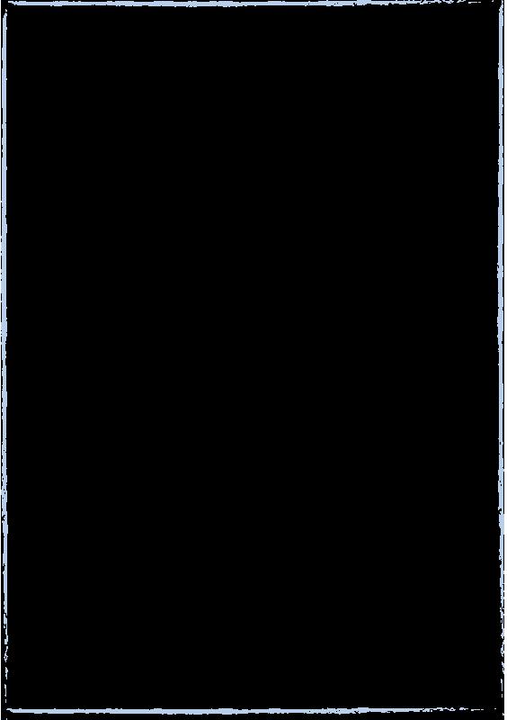 青いクレヨンで描いた枠(A4縦)
