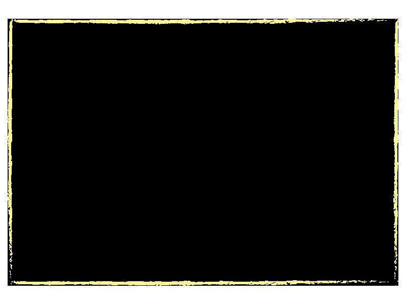 黄色のクレヨンで描いた枠