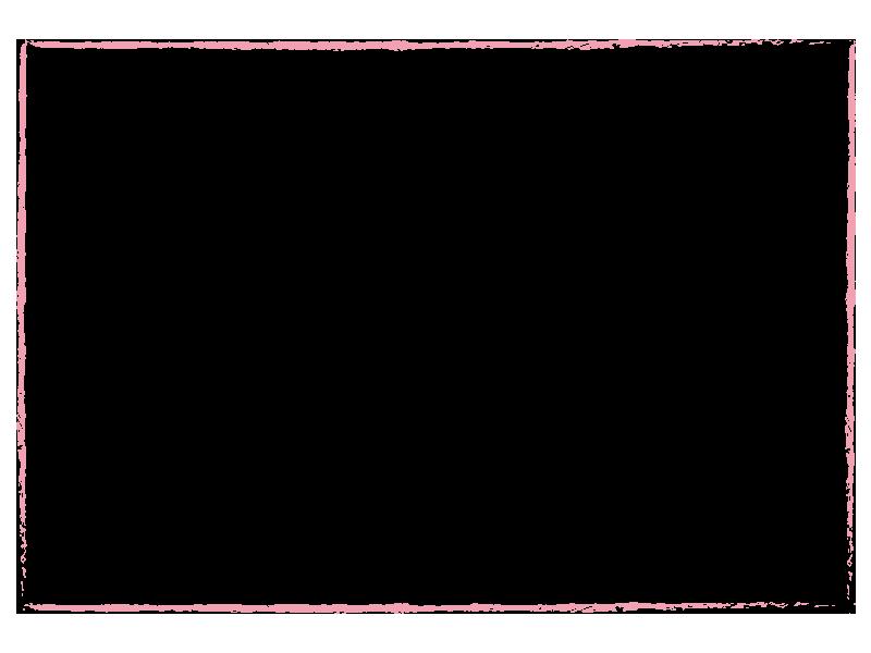 ピンクのクレヨンで描いた枠