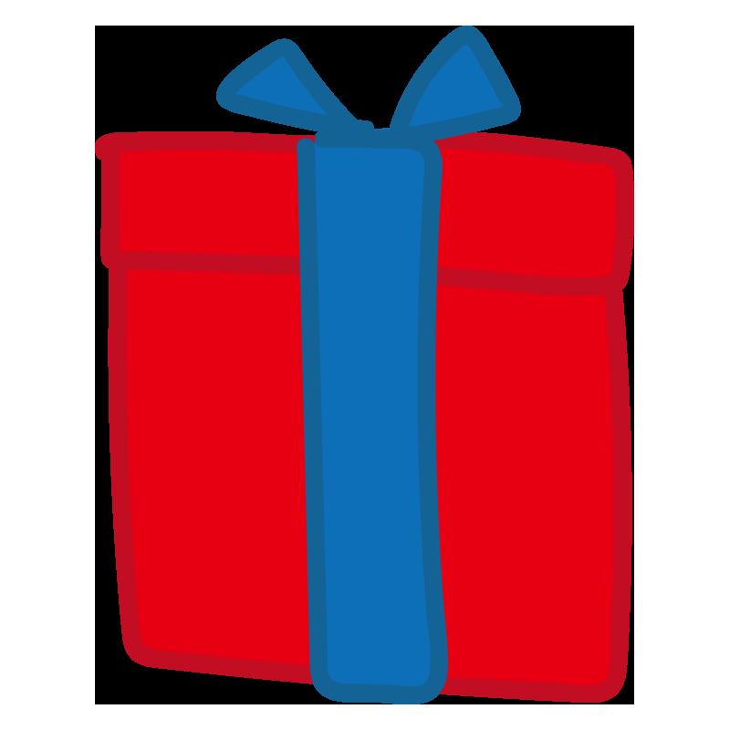 青いリボンのプレゼント2