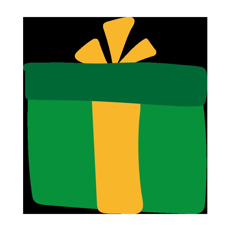 緑の箱のプレゼント