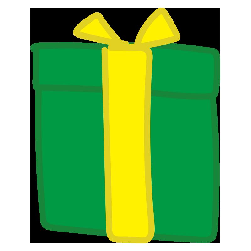黄色いリボンのプレゼント1