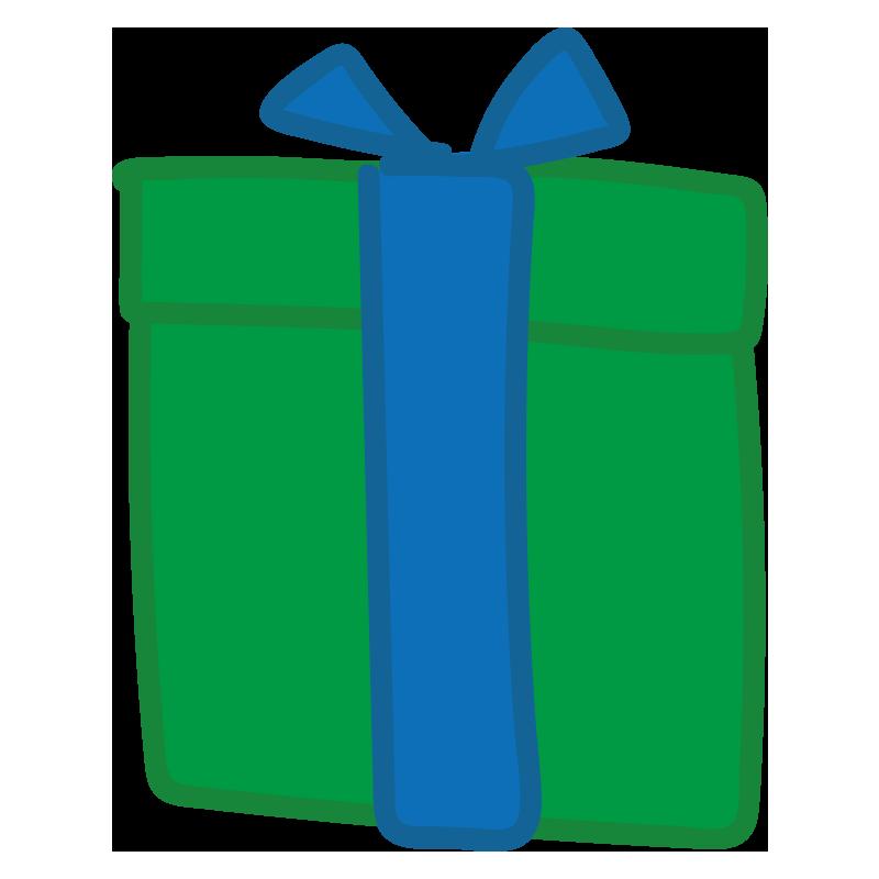 青いリボンのプレゼント1