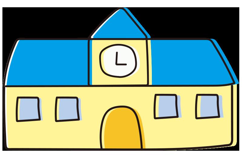校舎(青)