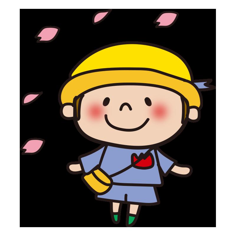 花びらと園児(男の子)