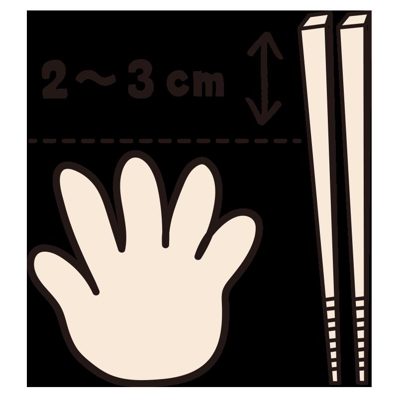 お箸のサイズ説明1