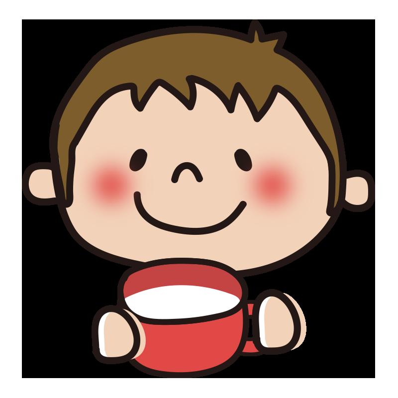 ミルクを飲む男の子