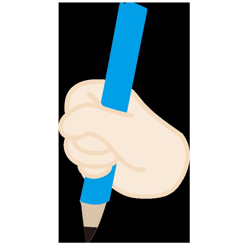 鉛筆の間違った持ち方2