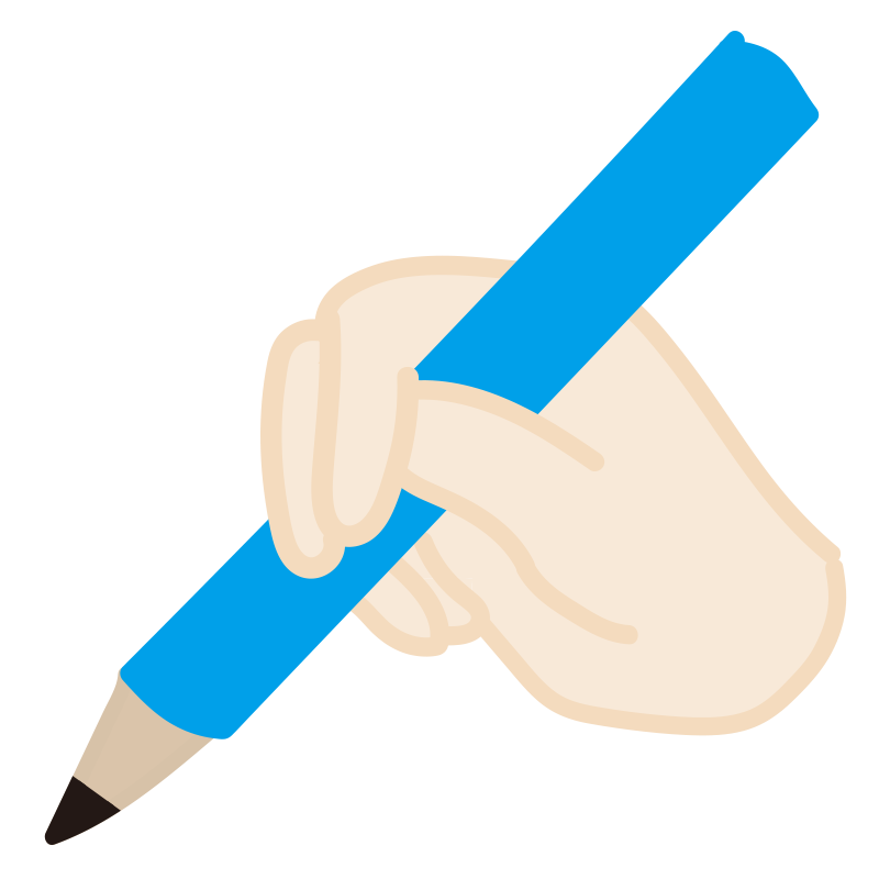 鉛筆の間違った持ち方4