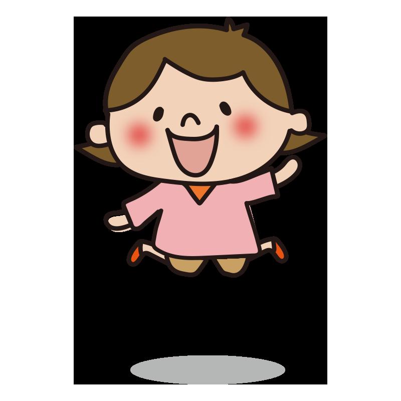 ジャンプする女の子1