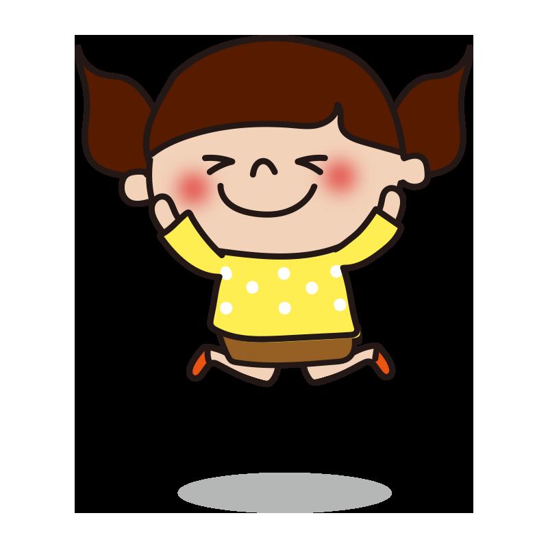 ジャンプする女の子2