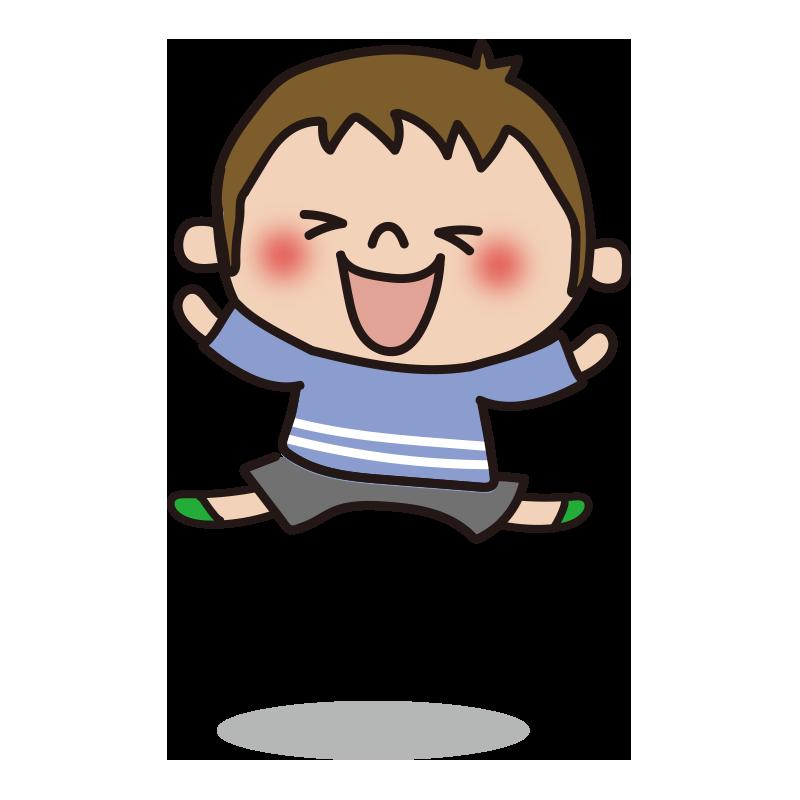 ジャンプする男の子1