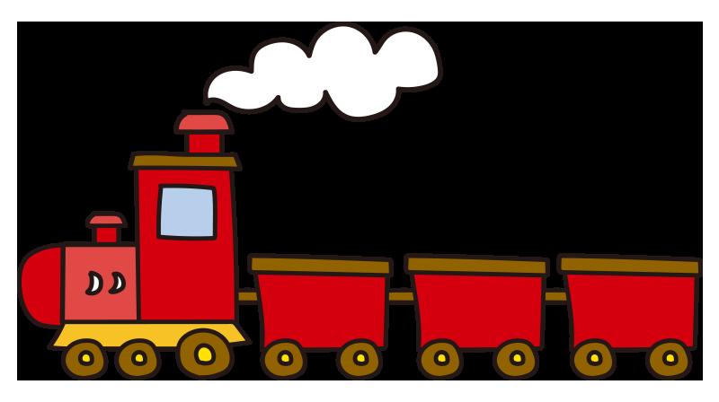 煙を出す赤い汽車