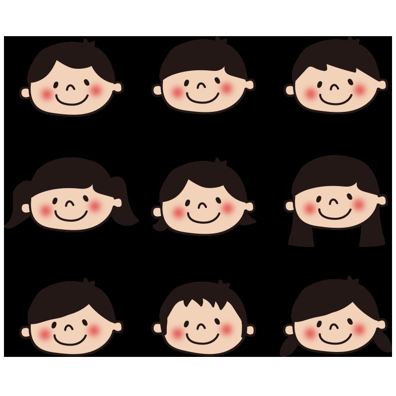 子供の顔セット1