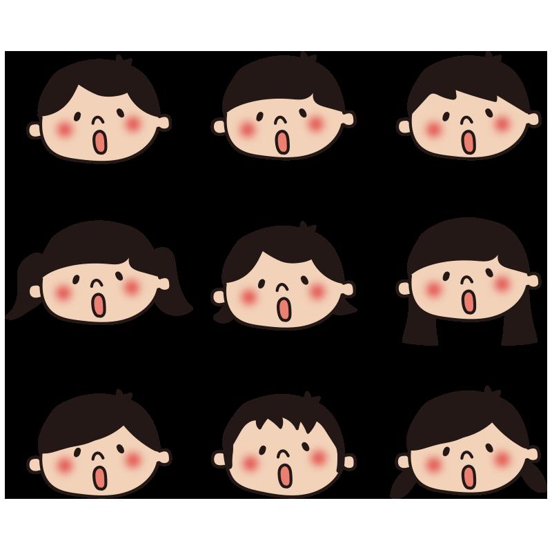子供の顔セット3