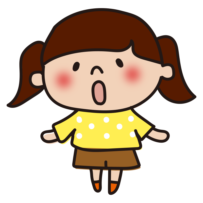 驚く女の子2
