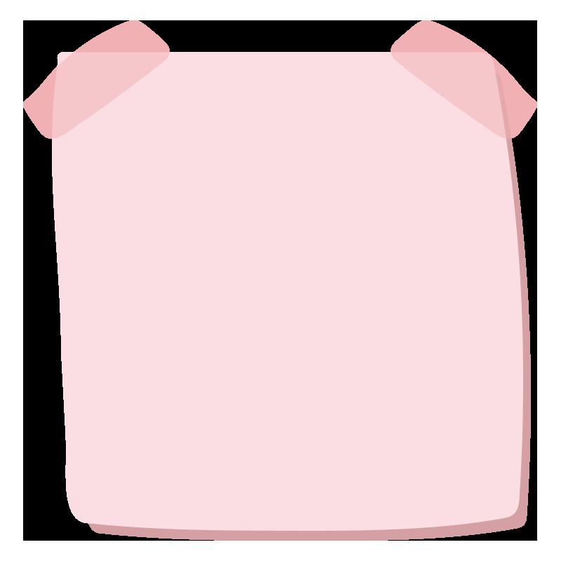 テープでとめたメモ2(ピンク)