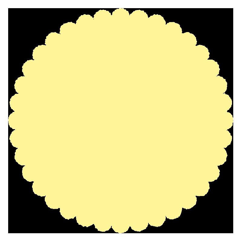 丸いふわふわ(黄色)