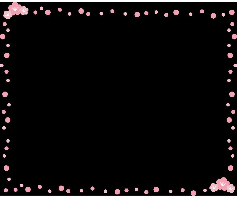 桃の花の枠1