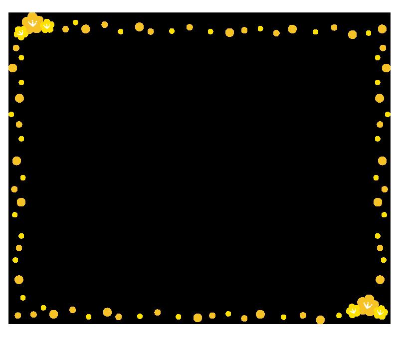 桃の花の枠1(黄)