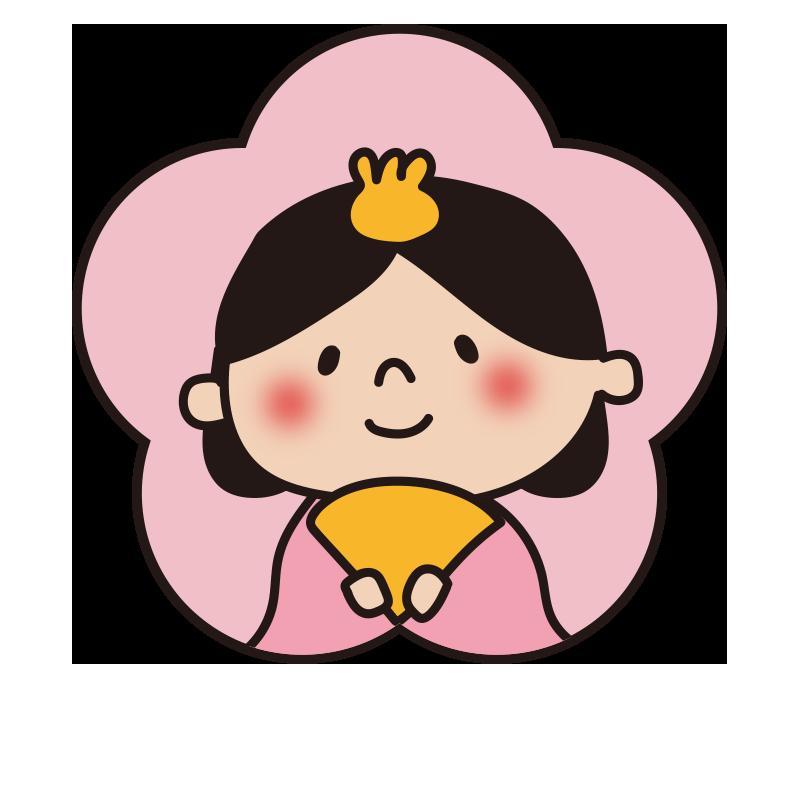 桃の花型のおひな様