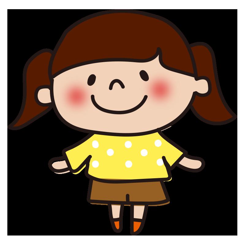 黄色い服の女の子