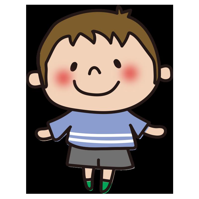 青い服の男の子