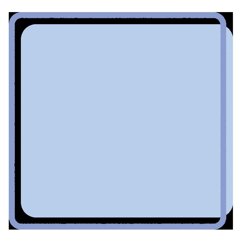 正方形のフレーム(水色)