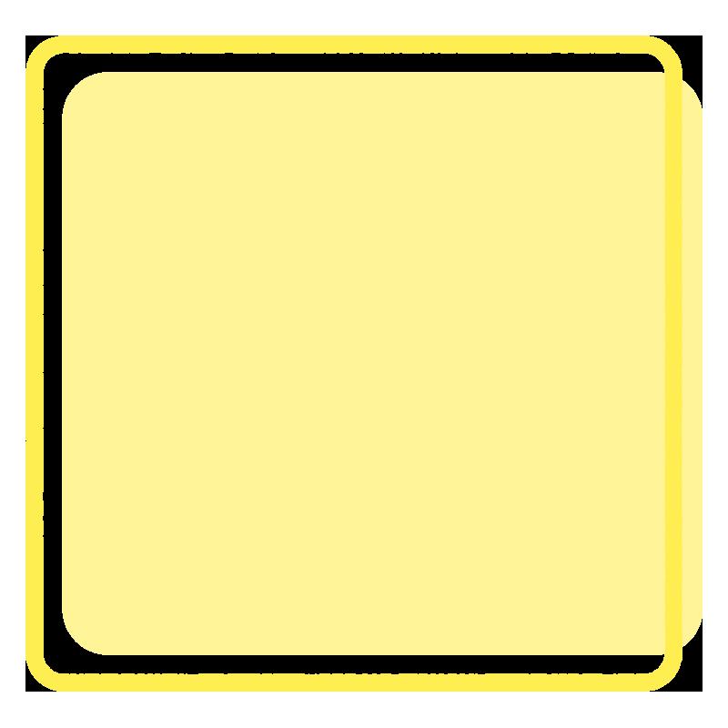 正方形のフレーム(黄色)