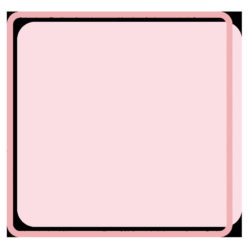 正方形のフレーム(ピンク)