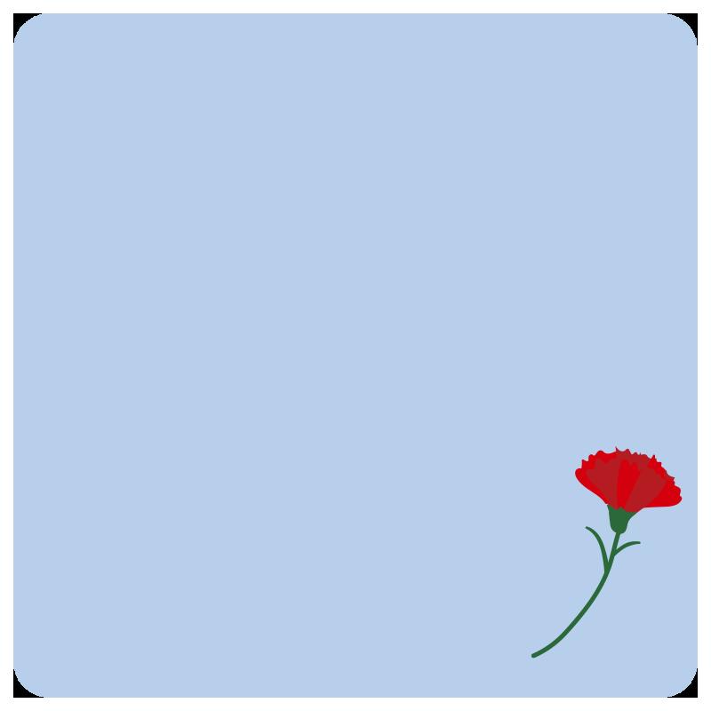 母の日のメッセージカード2(水色)