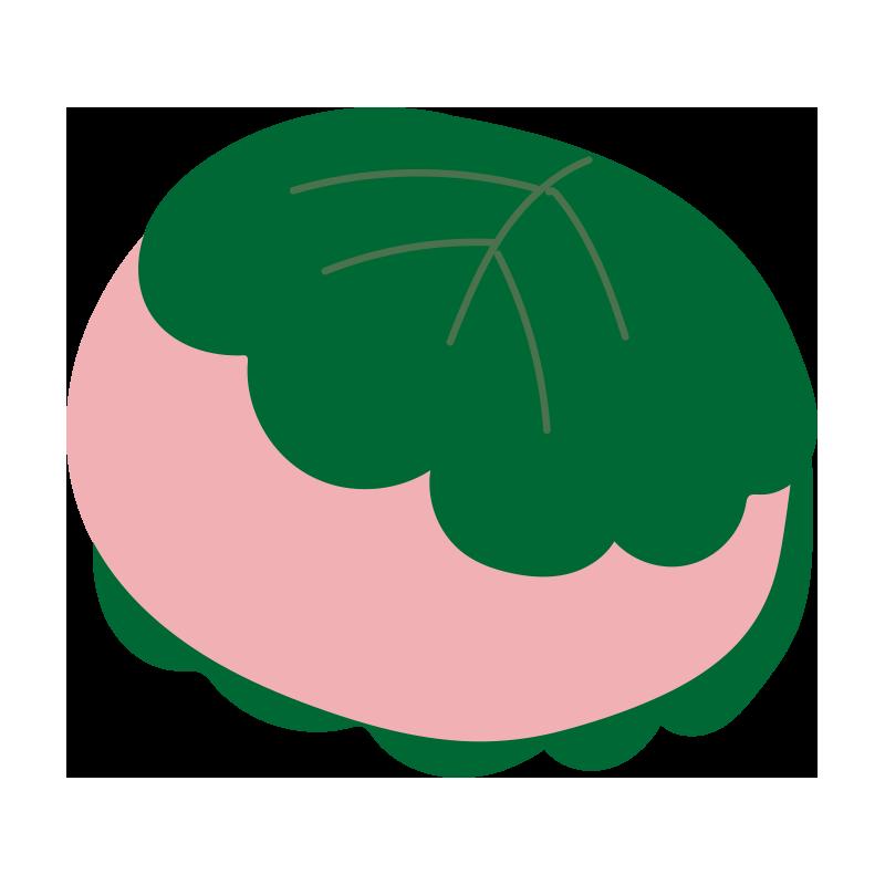 柏餅(ピンク)2