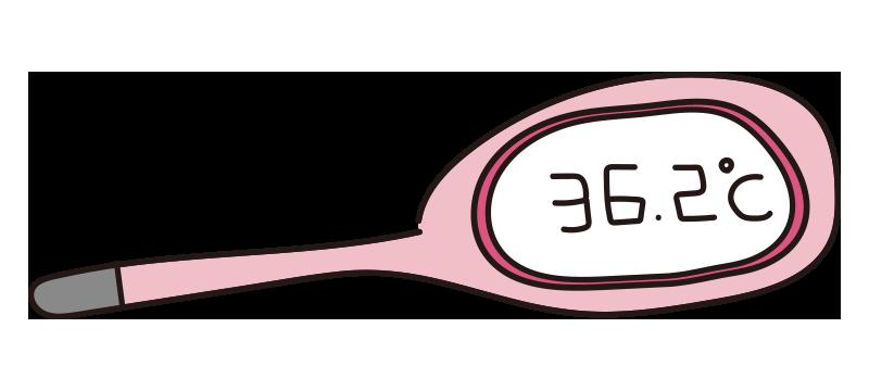 ピンクの体温計1