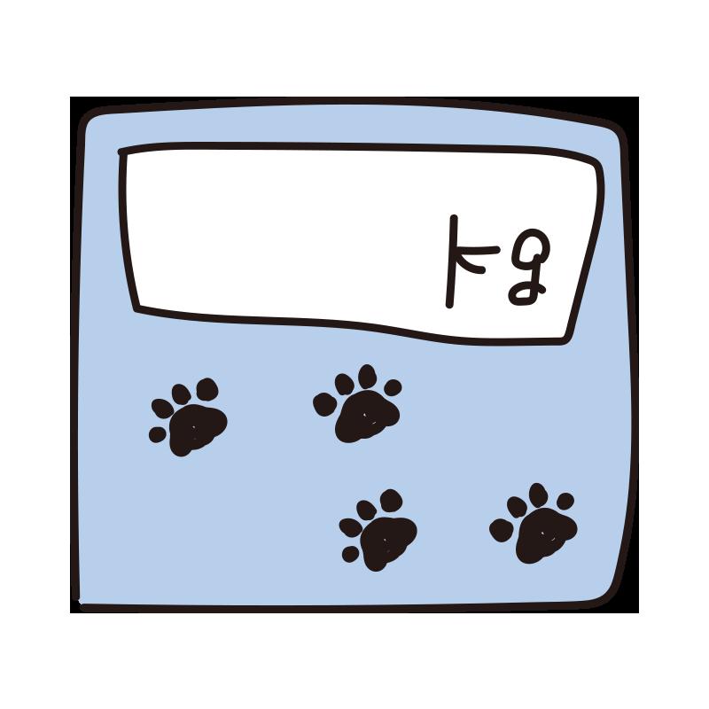 体重が書ける動物の体重計(青)