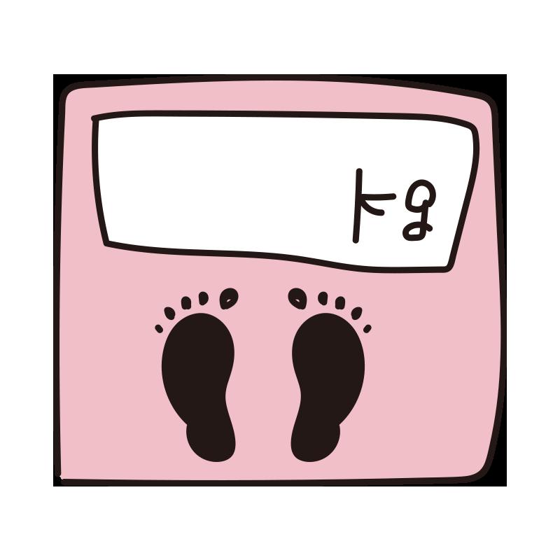 体重が書ける体重計(ピンク)