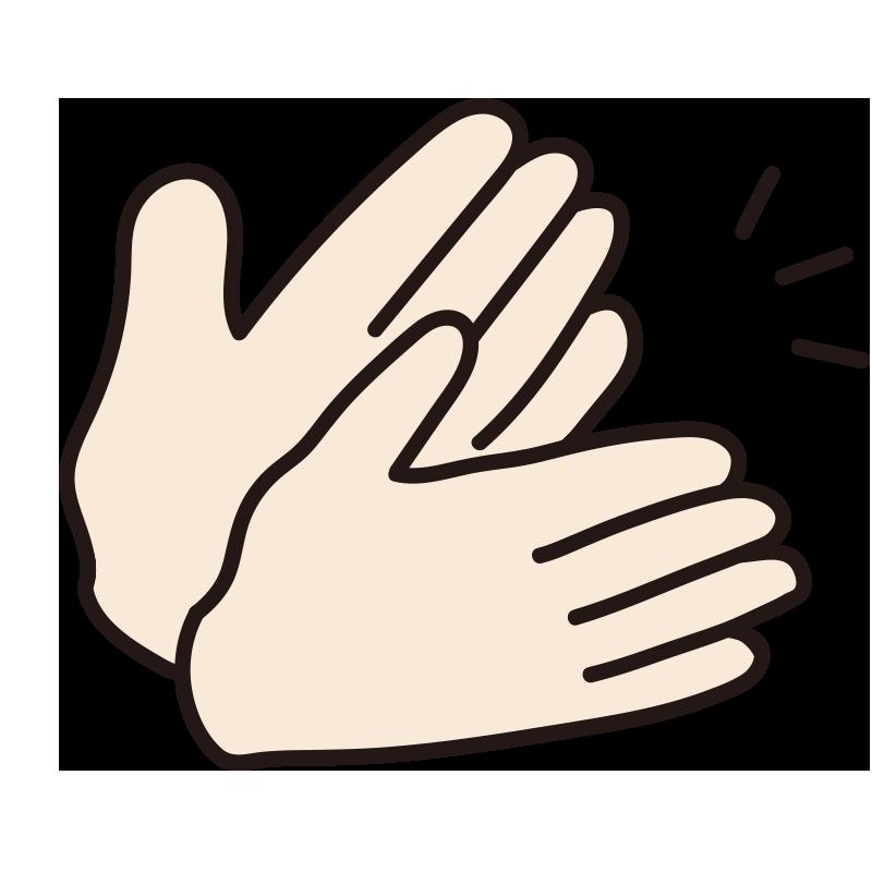 拍手している手(音)1