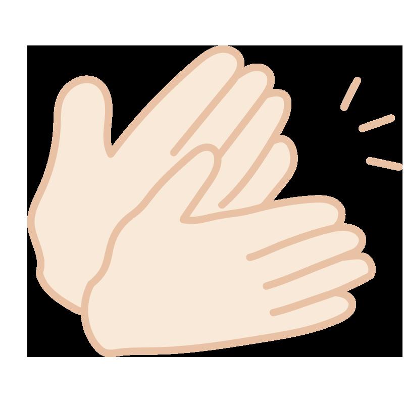 拍手している手(音)2