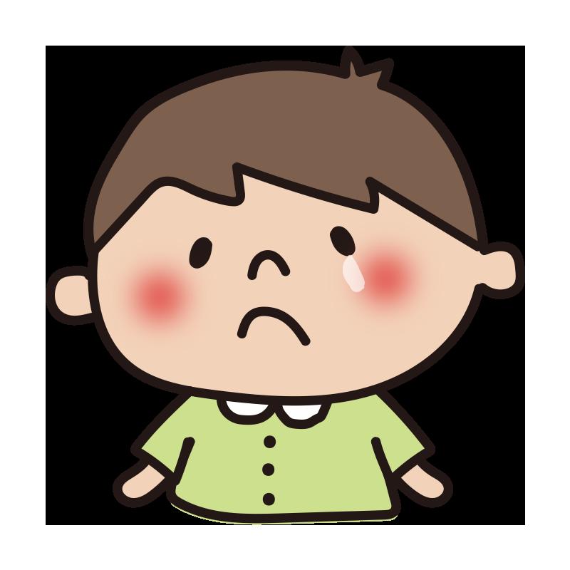 クスンと泣いている男の子